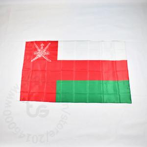 Bandiera Oman bandiera nazionale di trasporto libero 3x5 FT / 90 * 150cm Hanging bandiera Oman bandiera nazionale della decorazione della casa