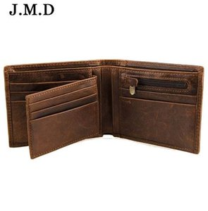 Crazy Horse leather wallet men zipper top quality men wallets leather purse with coin pocket male wallet purse genuine leather