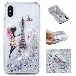 Quicksand Soft TPU Case For Iphone XS MAX X XR 8 7 Plus 6 5 Eiffel Tower Bling Glitter Flower Fairy Liquid Luxury Dreamcatcher Phone Cover