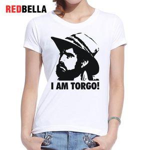 T-shirt da donna Redbella Art Sketch T-shirt stampata Donna Vintage Retro Artistic Pattern Film Tv Character Punk Hipster Graphic Tees Clothing