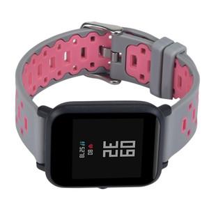 Ремешок для Amazfit Бип легкий проветривайте Мягкий силиконовый ремешок для Amazfit Бип Молодежная часы аксессуары