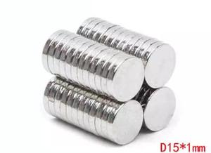 100 teile / los Dia15x1mm Verkauf von hartmagneten, starken N52 NdFeB durchmesser 15mm, 1mm dicke Industriemagnet