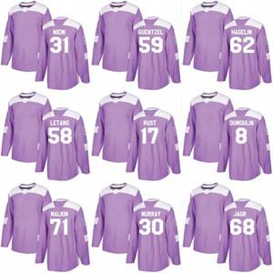 2018 Kämpfe Krebs Jersey 43 Conor Sheary 15 Riley Sheahan 12 Dominik Simon 39 Jean-Sabastien Dea Benutzerdefinierte Hockey Trikots
