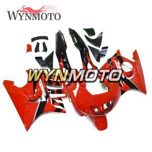 혼다 CBR600 F3 1995 년 1996 95 96 전체 페어링 키트 새로운 레드 블랙 차체 오토바이 발동기 커버를위한 새로운 완벽한 바람막이를 키트 맞춤