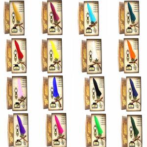 Harry Potter Plumes stylo plume stylo plume 18 couleurs Valentines boîte cadeau harry Potter stylo plume école de bureau sans encre GGA851
