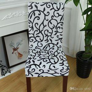 Stretch Force Чехлы на стулья Многоцветная Ретро Печать Slipcover Половина Wrap Чехол на сиденья Hotel Свадебный банкет Поставки 8 5wl ii