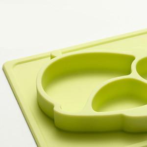 Boîte à lunch en silicone pour bébé Boîte à lunch en silicone pour dauphins Boîte à lunch créative Boîte à lunch Sucker Bowl