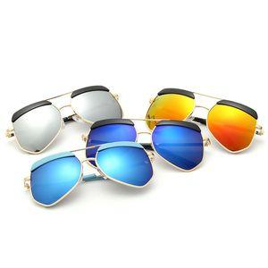 النظارات الشمسية الأطفال الجديد UV400 الملونة الطفل مرآة إطار نظارات شخصية نظارات شمسية 810 المصنعين بالجملة
