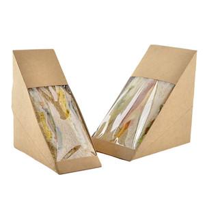 500 teile / los Dreieck Kraftpapier Box Hochzeit Süßigkeiten Geschenk Weihnachten Obst Pie Pizza Käse Kuchen Geschenkverpackungen
