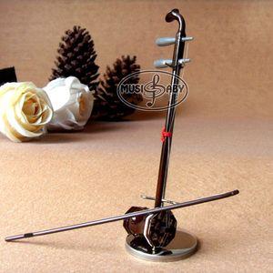 Mini Handmade Erhu Model Doll Ornamento instrumento regalo de cumpleaños 15 CM