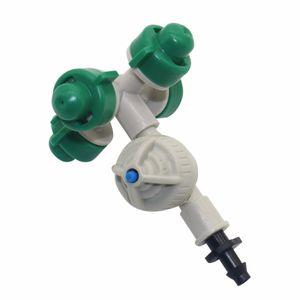 5 conjunto Micro Spray De Água Terno Atomização Bico Estufa Sistema de Irrigação Por Aspersão Fittings Anti-gotejamento 1/4 '' conector barb