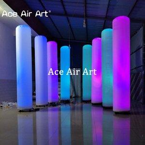 I 8 pezzi colorati Pilastri RGB / white LED Illuminazione gonfiabili per cerimonia nuziale / partito / decorazioni per eventi