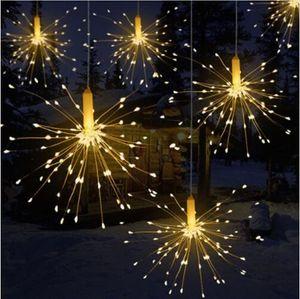DIY im Freien wasserdichten Weihnachts LED-Schnur-Licht-Feuerwerk Batteriebetriebene Dekorative Lichterketten für Garland Patio Hochzeit
