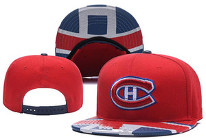 New Caps Montreal Canadiens Cappellino Hockey Snapback Cappellino rosso e blu Colore Cappelli squadra Mix Match Ordine All Caps Cappello Top Quality