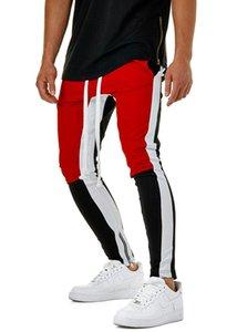 Adam hareket urgan uzun tarzı pantolon MM Mavi Patchwork Ayak ve ağız Düğme Haren Küçük ayaklar Fitness hareket pantolon gevşek