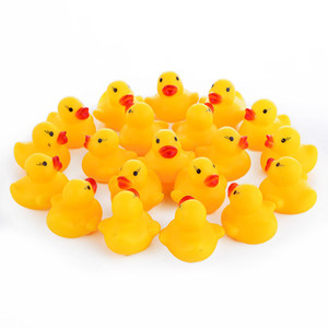 10pcs lot Cute Baby Kids Squeaky Rubber Ducks Bath Toys Bathe Room Water Fun Game Playing Newborn Boys Girls Toys for Children