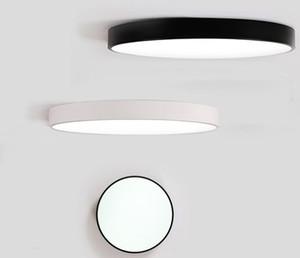 الصمام أضواء السقف مصباح السقف luminaria جولة بسيطة الديكور تركيبات دراسة غرفة الطعام إضاءة المنزل عالية 5 سنتيمتر