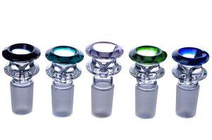 14mm 18 mm männlich dicke Farbe Smoking Bowl Nagelhalter, trockener Kräuterhalter für Wasserglas Bongs Rohre Shisha zufällige Farbe
