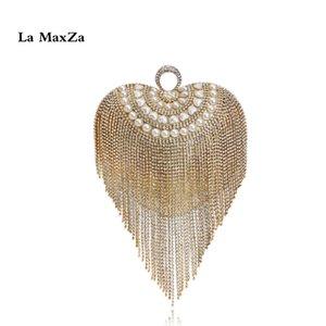 spettacolo La MaxZa nappa Borsa Fruitless Lussuoso Borsa Best Seller signore vestito da pranzo di nozze pochette da sera