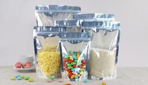 1000 PC Stand up Klare Aluminiumfoliebeutel, silbriges metallisches Verpackungen aus Kunststoff-Beutel für Lebensmittel Tee Süßigkeit Keks Backen