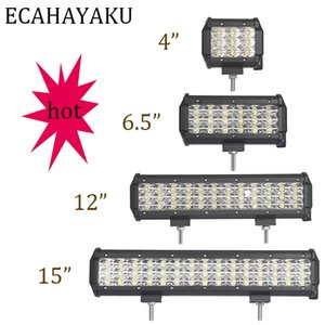 ECAHAYAKU 4inch 27W 54W 108W 135W 3 Row Led ÇALIŞMA Light Bar 4x4 Off-road 12V 24V Tekne Kamyon ATV sis Nokta Combo ışın