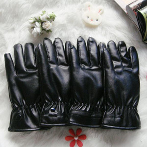 Hot sell Thermal touch screen leather gloves winter male cycling motorcycle waterproof pu gloves female velvet