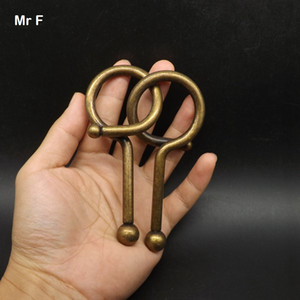 Extra Big Question Mark Metal Ring Puzzle Model Solution Brian Teaser Gadget Intelligence Game Toys Gadget