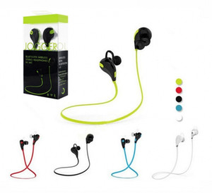 JOGGER QY7 sports Bluetooth 4.1 سماعة أذن سمّاعة رأس مجسّم سماعة مع مايكروفون ل iPhone 8 Samsung مع صندوق بيع بالتجزئة