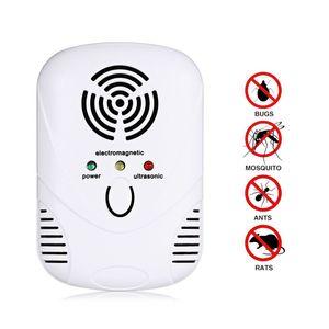 Venda quente Repeller Pest Repeller Eletrônico Ultrasonic Pest Control Para Rejeitar Mosquito Mouse Multi-Função Repelente de Pragas