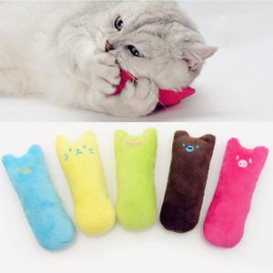 Дешево! Симпатичные интерактивные необычные домашние животные зубы шлифовальные Catnip игрушки когти палец укус кошка мята случайный цвет