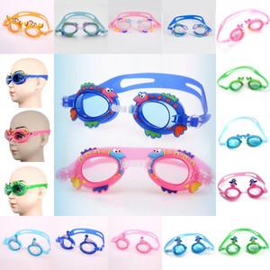 جميل أطفال صيف الرياضات المائية الأطفال الكرتون السباحة نظارات للماء ومكافحة الضباب فوق البنفسجية حماية نظارات السباحة الغوص