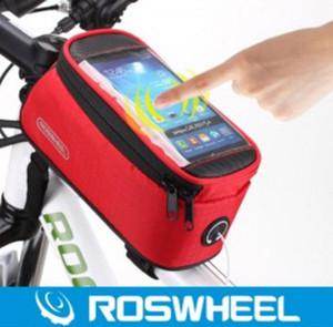 ROSWHEEL 12496 mtb saco saco acessórios bicicleta ciclismo cesta pannier bicicleta caixa do telefone 5,7 polegadas frete grátis