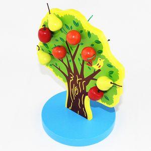 Brinquedos de madeira educacionais Magnetic Apple Tree Baby Toy Educação Infantil Preschool Training