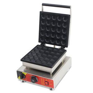 Livraison gratuite coût 25 trous 110v 220v électrique Pancakes Maker Poffertjes Maker Grill gaufriers