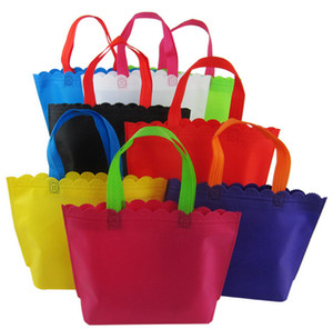 20 piece lot Custom logo printing Non-woven bag   totes portable shopping bag for promotion and advertisement 80g fabric