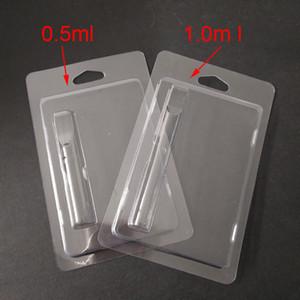 cartucho de venta al por menor de envases de plástico concha de almeja embalaje de la ampolla de 0,5 ml / 1 ml de Vape cartuchos 92A3 G2 th205 vapor de embalaje 510 Cesta de embalaje