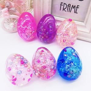 Crystal Slime Egg ArtChaser Colorful Soft Slime Giocattolo di fango profumato Giocattolo di fango profumato Adatto per bambini Studenti Bomboniere Confezione da 12
