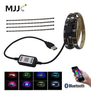 LED USB Bluetooth bande 5V Tira LED RGB Ruban SMD 5050 ruban flexible Ambilight TV Lumière Rétro-éclairage pour ordinateur Bias Lighting