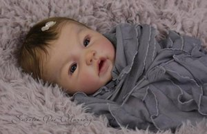 20 Zoll Reborn Babys Kits DIY handgemachte Puppe wiedergeboren 3/4 Silikon Vinyl Gliedmaßen Kit Zubehör
