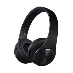 Matte Finish Premium Rechargeable Wireless Headphones Bluetooth Over Ear Headphones Foldable Headset with Mic ,TF Headset,(Black)