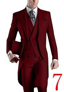 Personnaliser Couleurs Un Bouton Sommet Lapel De Mariage Groom Matin Style Hommes Costumes De Mariage / Bal / Dîner Meilleur Homme Blazer (Veste + Cravate + Gilet + Pantalon)
