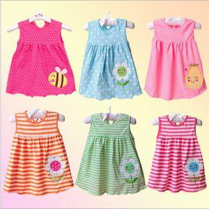 2018 New Infant Kind-Mädchen-Kind-line Kleid ärmellos mit Blumenmustern Einer Vielzahl von Arten gelegentliche Anlieferung freies Verschiffen