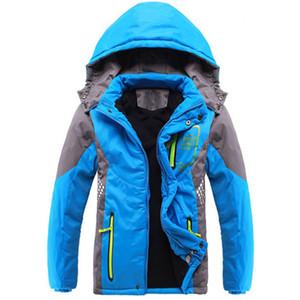 Inverno 2018 Addensare Tuta sportiva per bambini Cappotto caldo Sportivo Abbigliamento per bambini Impermeabile antivento Teen Boys Giacche per ragazze 3-14 anni