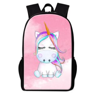 الكرتون الحيوان مدرسة يونيكورن حقائب تحمل على الظهر لفتاة فتى الكتب المخصصة الخاصة بك تصميم مدرسية للأطفال يوميا Bagpack الاطفال الظهر حزمة