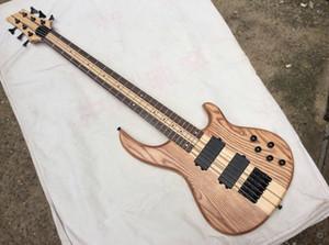 6 струн бас-активные звукосниматели электрический бас Neck Thru Body Rosewood Maple грифе новый китайский бас