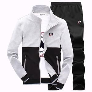 Yeni Moda İlkbahar Sonbahar Erkekler Sporting Suit Hoodies + Pantolon Eşofman Erkekler Için Iki Parçalı Set Eşofman Set Giyim