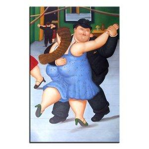 Handgemalte Große Berühmte Fernando Botero Klassische kunst ölgemälde Auf leinwand Hohe Qualität Wandkunstausgangsdekor Multi größen fr05