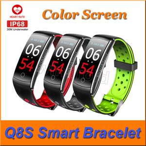 Q8S akıllı bileklik spor Tracker kalp atış hızı monitörü Tansiyon IPS Renk Ekran Su geçirmez Akıllı Bileklik İzle ucuz