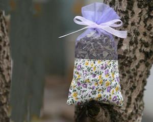 Mor Pamuk Organze Lavanta Poşet DIY Kurutulmuş Çiçek Tatlı Bursa Gardırop Mouldproof Fume Hediye Çantası