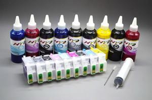 R3000 Tintennachfüllung Kits für Epson Photo R3000 Drucker (Refill Tintenpatrone mit Chip auto reset Tintenstrahl + Nachfülltinte bulk 100 ml)